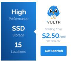 vultr 2.5刀/月 美东服务器